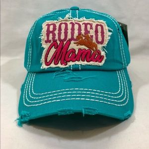 Accessories - RODEO MAMA Vintage Distressed Blue Baseball Cap